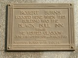 Robert Burns Plaque, Virginia Street, Glasgow